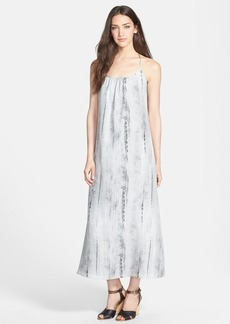 Eileen Fisher Cross Back Silk Maxi Dress