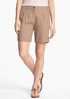Eileen Fisher Cuff Linen Shorts (Regular & Petite)