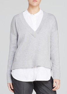 Eileen Fisher Deep V Boxy Sweater