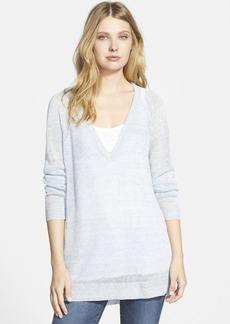 Eileen Fisher Deep V-Neck Linen Tunic (Online Only)