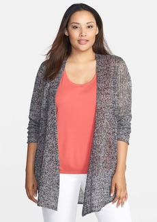 Eileen Fisher Delave Linen Mesh Long Cardigan (Plus Size)