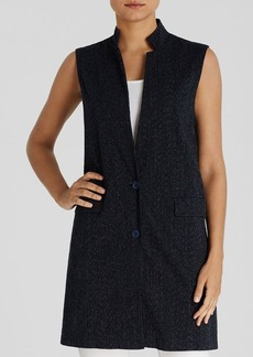 Eileen Fisher Dot Print Long Vest