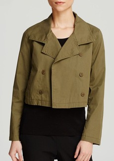 Eileen Fisher Double Breasted Cropped Jacket - The Fisher Project