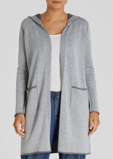 Eileen Fisher Double Face Hooded Cardigan
