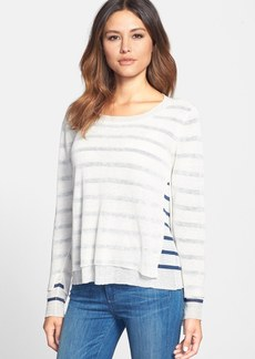 Eileen Fisher Double Layer Bateau Neck Sweater (Regular & Petite)
