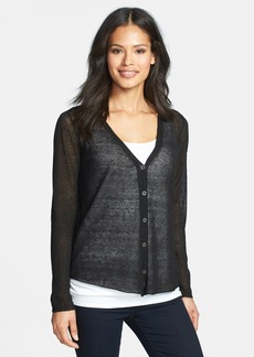 Eileen Fisher Drape Back V-Neck Cardigan