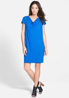 Eileen Fisher Drape Front Shift Dress (Regular & Petite)