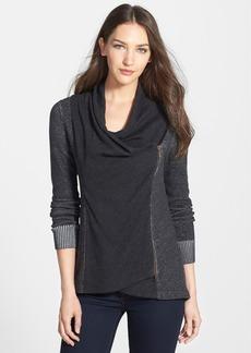 Eileen Fisher Drape Neck Asymmetrical Zip Cardigan (Regular & Petite)
