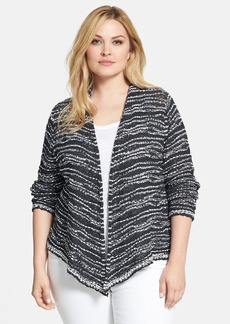 Eileen Fisher Draped Front Cotton Cardigan (Plus Size)