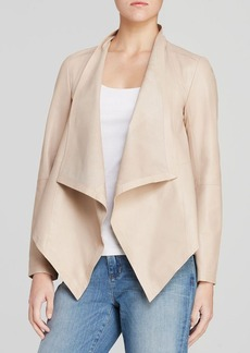 Eileen Fisher Draped Leather Jacket - The Fisher Project