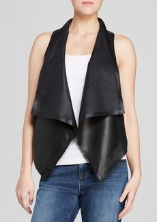 Eileen Fisher Draped Leather Vest - The Fisher Project