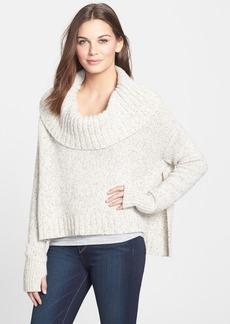 Eileen Fisher Drapey Neck Crop Cashmere Blend Sweater (Regular & Petite)