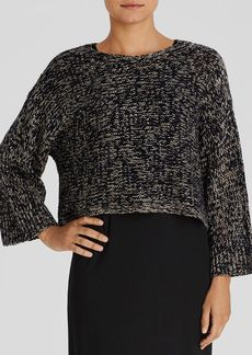 Eileen Fisher Drop Shoulder Marled Knit Sweater