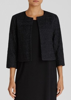 Eileen Fisher Embroidered Crop Jacket