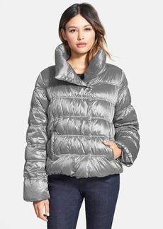 Eileen Fisher Funnel Neck Ruched Down Jacket (Regular & Petite)