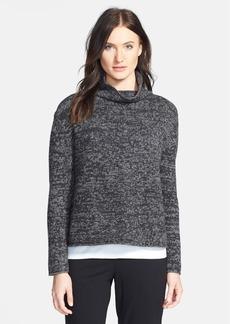 Eileen Fisher Funnel Neck Yak & Merino Sweater