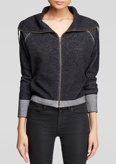 Eileen Fisher Funnel Neck Zip Cardigan