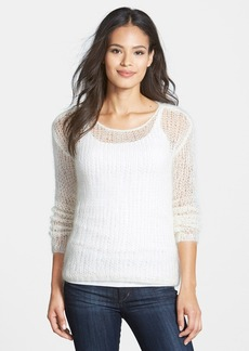Eileen Fisher Hand Knit Mohair Blend Scoop Neck Sweater (Regular & Petite)
