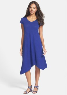 Eileen Fisher Hemp & Organic Cotton Cap Sleeve Shift Dress (Regular & Petite)