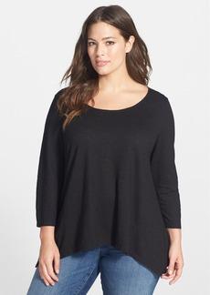 Eileen Fisher Hemp & Organic Cotton Scoop Neck Top (Plus Size)