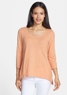Eileen Fisher Hemp & Organic Cotton Scoop Neck Top (Regular & Petite)