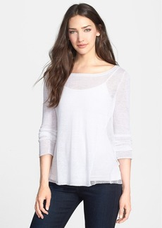 Eileen Fisher Hemp Blend Bateau Neck Top