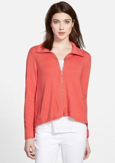 Eileen Fisher High Collar Zip Cardigan (Online Only)