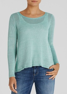Eileen Fisher High Low Linen Sweater