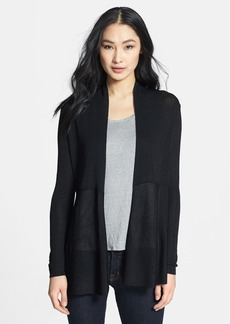 Eileen Fisher High Neck Peplum Cardigan (Regular & Petite)