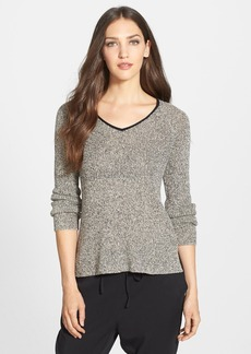 Eileen Fisher High/Low V-Neck Sweater