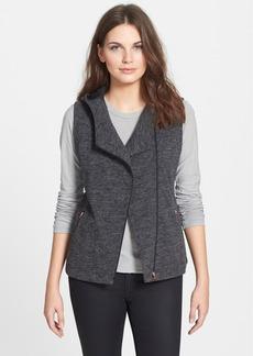 Eileen Fisher Hooded Asymmetrical Knit Vest (Regular & Petite)