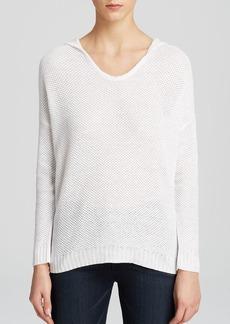 Eileen Fisher Hooded Linen Sweater