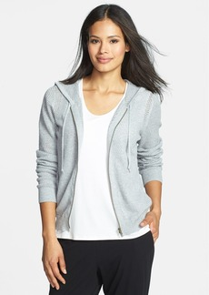 Eileen Fisher Hooded Organic Cotton Cardigan