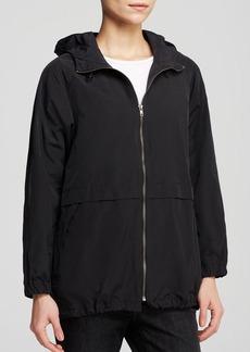 Eileen Fisher Hooded Zip Front Anorak