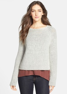 Eileen Fisher The Fisher Project Jewel Neck Alpaca Blend Sweater