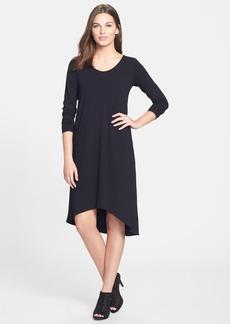 Eileen Fisher Jewel Neck Jersey Dress