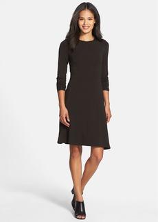 Eileen Fisher Jewel Neck Jersey Dress (Regular & Petite) (Online Only)