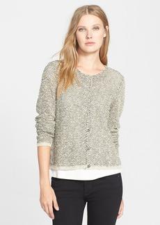 Eileen Fisher Jewel Neck Shaped Sweater Jacket (Regular & Petite)
