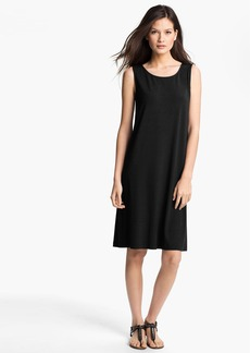 Eileen Fisher Jewel Neck Shift Dress (Regular & Petite)