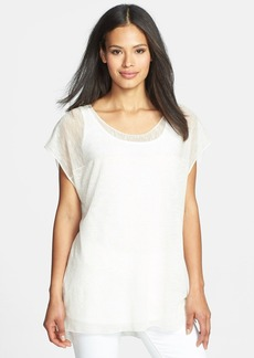 Eileen Fisher Jewel Neck Short Sleeve Top