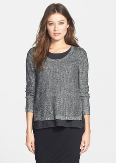 Eileen Fisher 'Karma' Shimmer Knit Boxy Top
