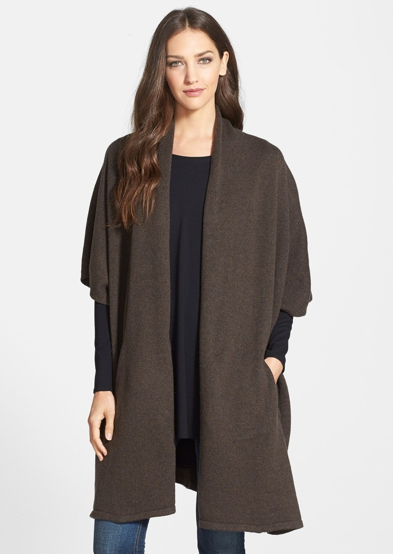 Eileen Fisher Eileen Fisher Kimono Sleeve Knit Cape Sweaters - Shop It To Me