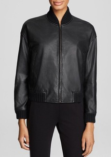 Eileen Fisher Lambskin Leather Bomber Jacket - Bloomingdale's Exclusive