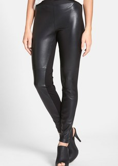Eileen Fisher The Fisher Project Leather Front Leggings (Regular & Petite)