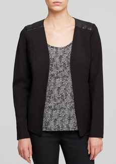 Eileen Fisher Leather Trim Jacket