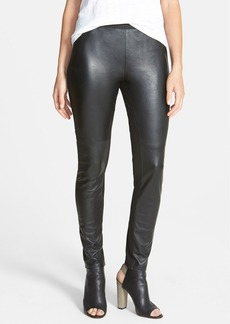 Eileen Fisher The Fisher Project Leather Trimmed Leggings