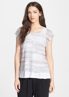 Eileen Fisher Linen Blend Boxy Crop Top (Regular & Petite)