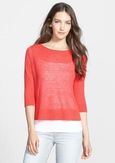 Eileen Fisher Linen Blend Boxy Layering Sweater (Regular & Petite)