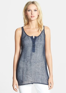 Eileen Fisher Linen Blend Scoop Neck Tunic (Regular & Petite)