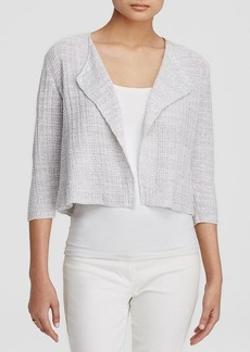 Eileen Fisher Linen Knit Cropped Jacket - Bloomingdale's Exclusive